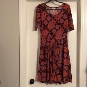 Like New L LuLaRoe Nicole Dress